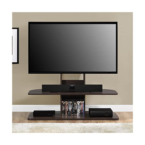 black tv stand with mount