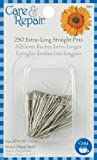 Dritz Straight Pins, X-Long, 250-Pack