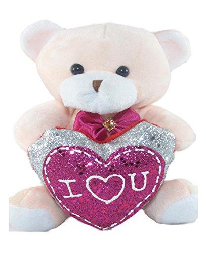 Tickles Peech I Love You Heart Teddy Stuffed Soft Plush Toy 15 cm