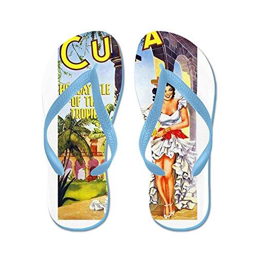 Poster Da Viaggio Cafepress Cuba 1 - Infradito, Sandali Infradito Divertenti, Sandali Da Spiaggia Blu Caraibico