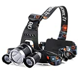 LED Headlamp, Pictek Headlamp, 5000 Lumens Flashlight 4 Working Modes Headlight with Rotatable Design and Adjustable Strap Perfect for Running, Hiking, Camping, Fish Hunting,Reading