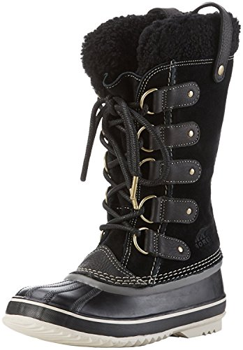 Sorel. Dames Joan Van Poolschoenen (6 B (m) Us / 37 Eur, Black / Stone)