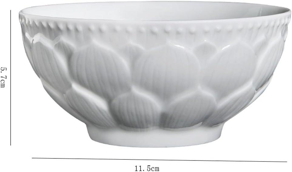 Hh001 Exquisito Juego de tazones de cerámica, Plato de Ramen/Avena/Avena/Cereal/Desayuno Chino, Juego de 6: Amazon.es: Hogar