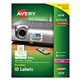 Avery Durable White Cover up ID Labels for Laser Printers, 1.25' x 1.75',  Pack of 1600 (6576)