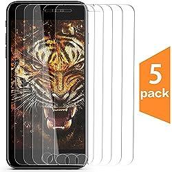 Iphone 7 Plus 8 Plus 6s Plus Screen Protector, [5-pack] Taken One For Apple Iphone 6 Plus 7 Plus 8 Plus Iphone 8 Plus 5.5 [Tempered Glass] Screen Protector [Case Friendly]