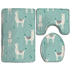 Amazon Com Jianyue Mint Green Alpaca 3 Piece Bathroom