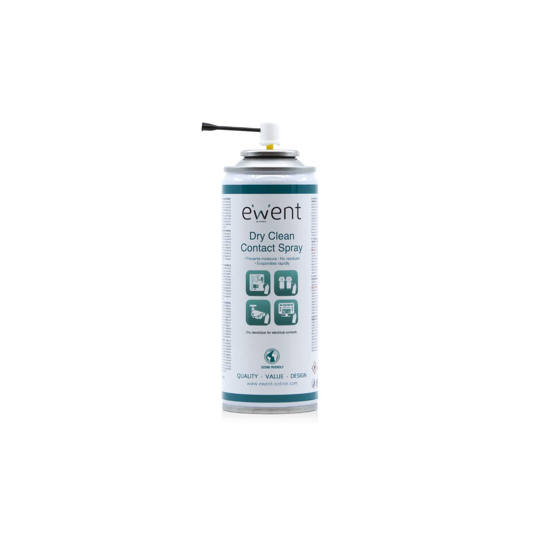 Ewent EW5614 - Pulverizador para la Limpieza en seco de contactos eléctricos Spray 200ml, Transparente: Amazon.es: Informática