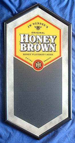 JW Dundees Honey Brown Lager Beer 35in By 18in Framed Mirror And (Dundee Honey Brown)