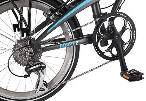 Adapt 2 8 Speed Folding Bike Matte Charcoal 20 Wheel One Size Frame