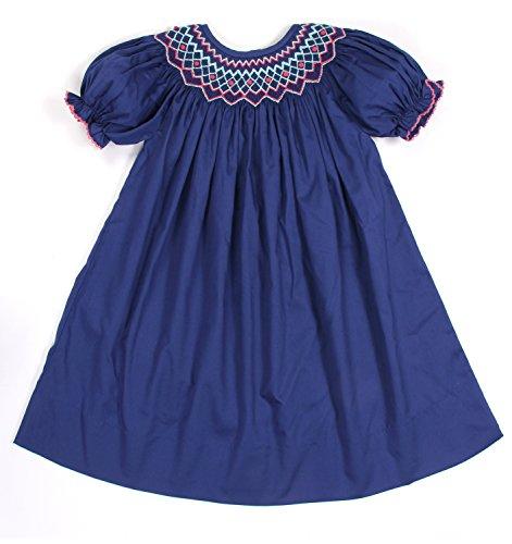 Babeeni Baby Girls Smocked Dress with Geometric Pattern (Baby Girl Smocked Dresses)