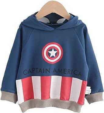 Camiseta para Niño Spiderman Camisas Infantiles de Ropa Sudaderas Niña Invierno Chandal Niños Sudadera con Capucha Tops T-Shirt