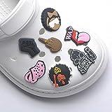 Cute shoe charms for crocs 7 Pcs GIRL ROCK Shoe