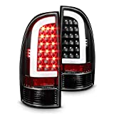 Xtune 2005-2015 Tacoma Black Housing Fiber-Optic Light-Tube LED Tail Lights Pair L+R 2006 2007 2008 2009 2010 2011 2012