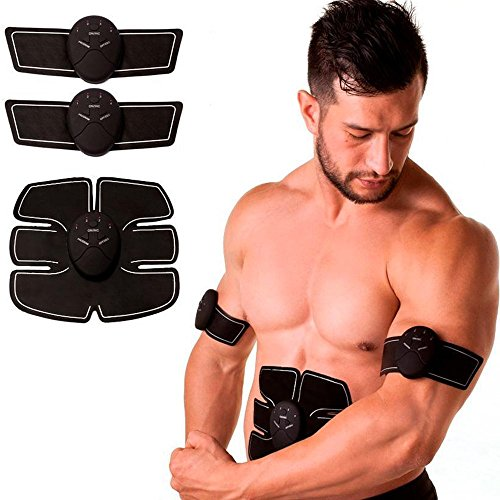 PU LifeStyle V2 Electro Muscle 6 Pack Abdominal Workout Trainer with Leg/Arm/Glutes Attachment, Black