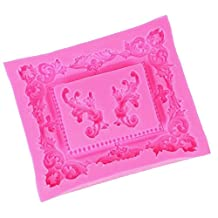 MagiDeal Mirror Frame Scroll Vintage Silicone Fondant Mould Cake Baking Icing Mold