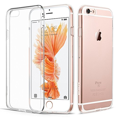 iPhone 6s Case, tekSonic Apple iPhone 6/6s Case [SOFT-FLEX] Shock-Absorption Bumper [Crystal Clear] and Anti-Scratch Clear Back Cover Case for iPhone 6s iPhone 6 4.7 Inch (Transparent)