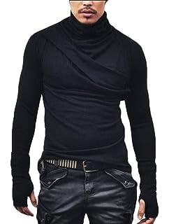Yayu Mens Solid Leisure Oxford Long Sleeve Slim Button Down Shirts