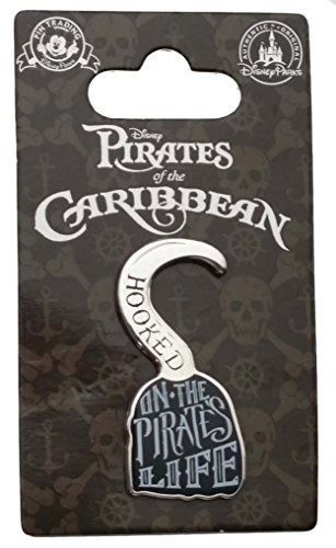 Disney Pin - Pirates of the Caribbean - Hooked on Pirates (Caribbean Disney Pin)