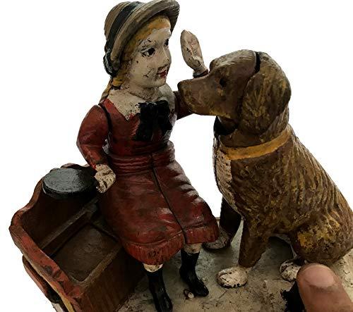 Global Art World J. E. Stevens Company 1897 Re-Creation Heavy Quality Antique Style Cast Iron Mechanical Vintage Speaking Dog Money Box Bank MB 04 by Global Art World (Image #7)