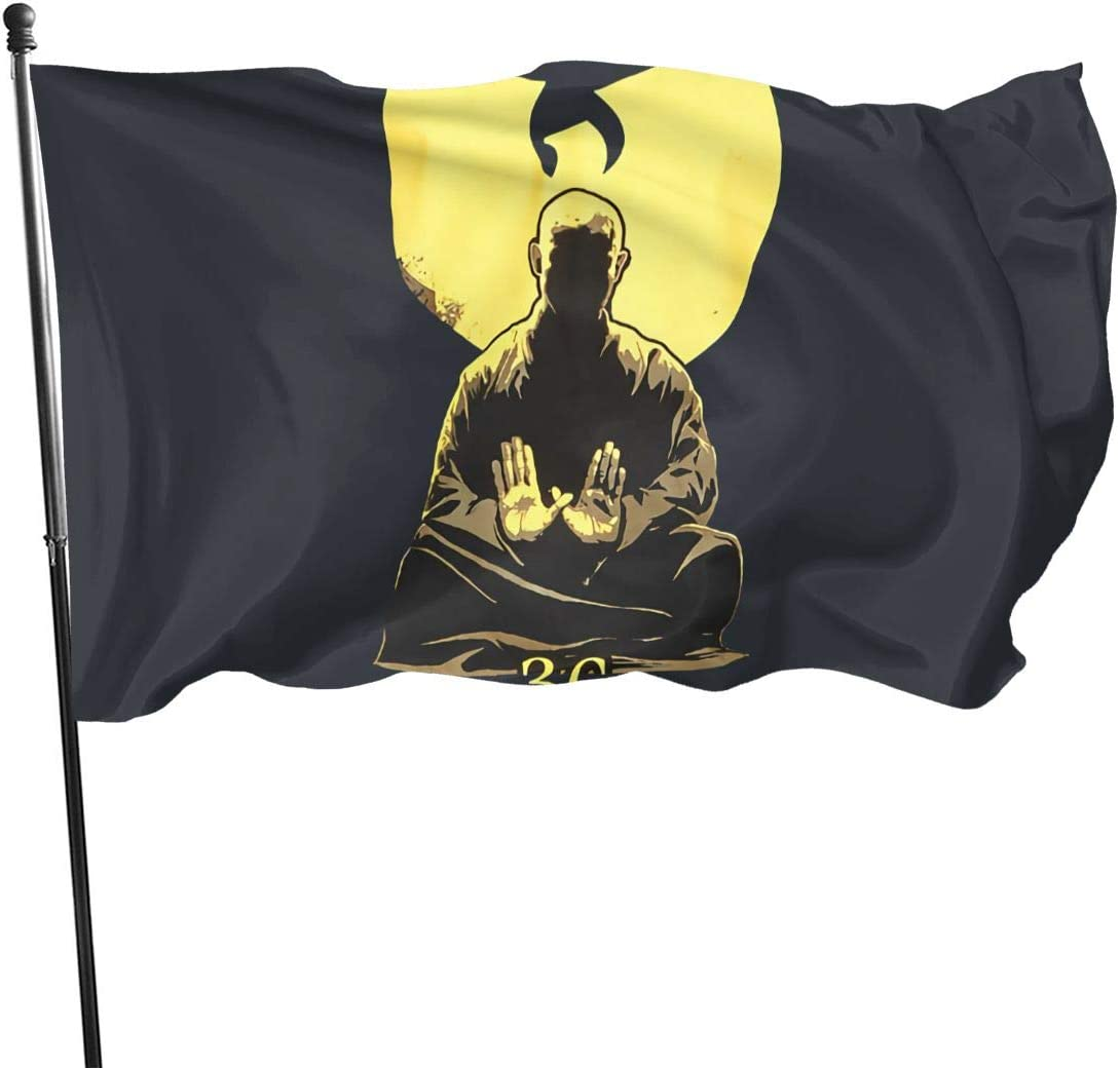 Wu Tang Clan Protection Garden Flags 3 X 5 in Indoor&Outdoor Decorative Home Fall Flags Holiday Decor Garden Banner