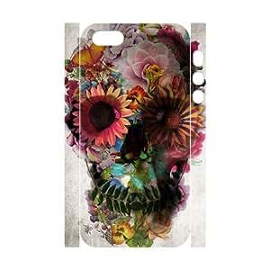 Skull Custom 3D Cover Case for Iphone 5,5S,diy phone case ygtg557730 by icecream design
