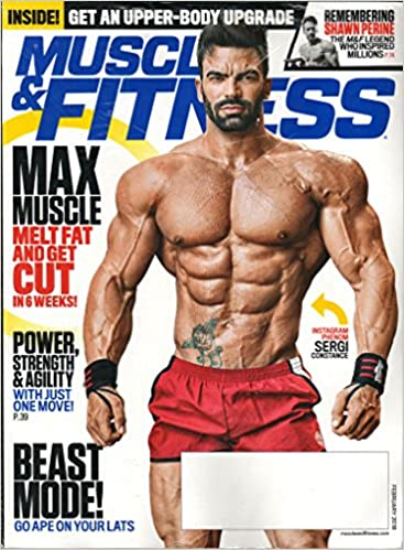 muscle fitness magazine february 2018 sergi constance amazon