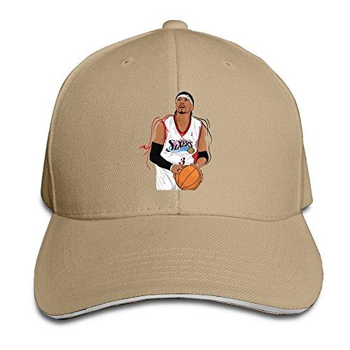 P-Jack Unisex Allen Ezail Iverson Adjustable Optimum Cap Hat Natural (Charlie Womens Adjustable Hat)