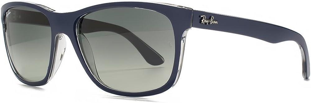 Ray-Ban Gafas de sol Wayfarer cuadrado en azul en transparente RB4181 613671 57: Amazon.es: Ropa y accesorios