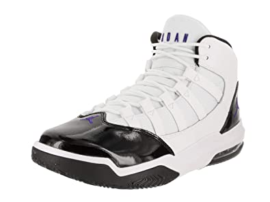 more photos 3c254 55dac Jordan Mens MAX Aura White Dark Concord Black Size 8