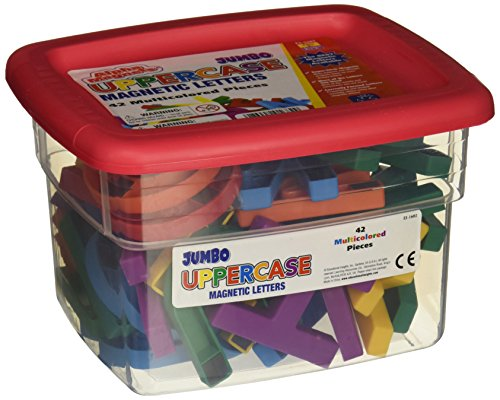 Educational Insights Jumbo Uppercase Magnetic Letters in Tub, 2-1/2 Inches, Set of ()