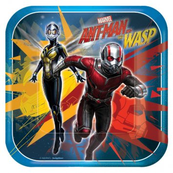 American Greetings Ant-Man and The Wasp Paper Dessert Plates, 8-Count ()