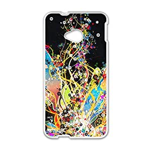RHGGB Creative Colorful Pattern Custom Protective Hard Phone Cae For HTC One M7