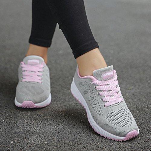Mujeres Correr Logobeing Malla Cruzadas de Redondo para Zapatillas Correas C Las Zapatos Zapatillas Deporte Planas Casuales qTTwvx5
