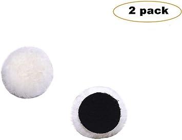 6-Inch Lamb Wool Polishing Buffing Pad Hook and Loop Soft Cutting Pad 2-Pack New