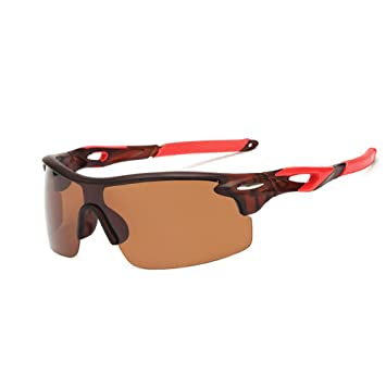 FULARR Gafas de Sol Deportivas Polarizadas, Lentes de Resina con Protección UV400 y Marcos de