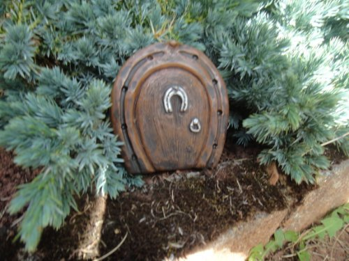 Small Horseshoe Fairy/Hobbit Door Ideal For Gardens And Bottom Of Trees