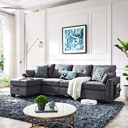Amazon Com Honbay Reversible Sectional Sofa Couch For