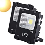 Cheap GM Lighting Outdoor LED Flood Lights 20W LED Security Lights Halogen Bulb Equivalent with IP66 Waterproof for Garage, Garden, and Yard, Warm White, 2000Lm, 2 Pack