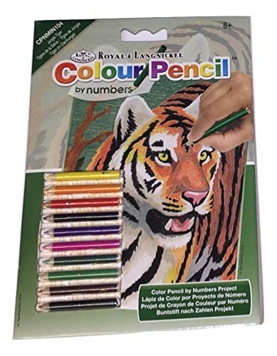 - Royal & Langnickel Colour Pencil by Numbers ~ Jungle Tiger
