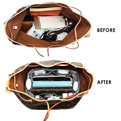 IN Bag in Bag Organizer Insert for Drawstring Bucket Bag Handbag Organizer  Multi-Pocket 877995a3e4