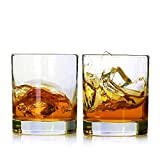 Whiskey Glasses,Set of 2,11 oz,Premium Scotch Glasses,Bourbon Glasses for Cocktails,Rock Style Old Fashioned Drinking Glassware,Perfect for Father's Day Gifts,Party,Bars, Restaurants and Home