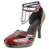 4 Inch Vampire Costume Shoe Sexy Dorsay Shoes GOTHIC Shoe Style Burgundy Size: 9