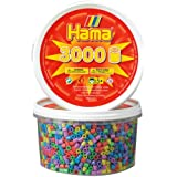 Hama Beads - Pastel Mix 3000 Tub (Midi Beads)