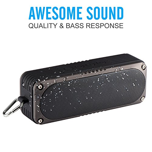 Portable Wireless Bluetooth Speakers [20W 25H 4400MAH], Raydem Outdoor Bluetooth Speakers Waterproof IP65, Dual Deep Bass Superior Sound Stereo Bluetooth Speaker for Home Riding Hiking - Shack Radio Free Radio Hands