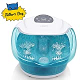 Foot Spa/Bath Massager with Heat Bubbles Vibration 3 in 1 Function, 4...