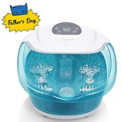 A foot spa is a great way to help relax yourself after a day filled with stress and fatigue, for it accelerates the process of metabolism, which is beneficial to your entire body. Simply fill the MaxKare spa bath massager with water, customiz...