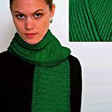 ''Beginner's Scarf'' Knit Kit with Encore Worsted Yarn - PINE