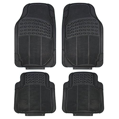 (Copap 4pcs Heavy Duty Rubber Floor Mats Front & Rear Driver & Passenger Seat Universal Fit Car SUV Van & Trucks(Black))