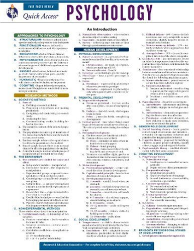 psychology reference chart - 2