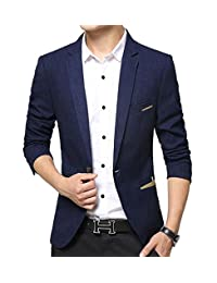 Benibos Men's Premium Casual 1 Button Slim Fit Blazer Suit Jacket
